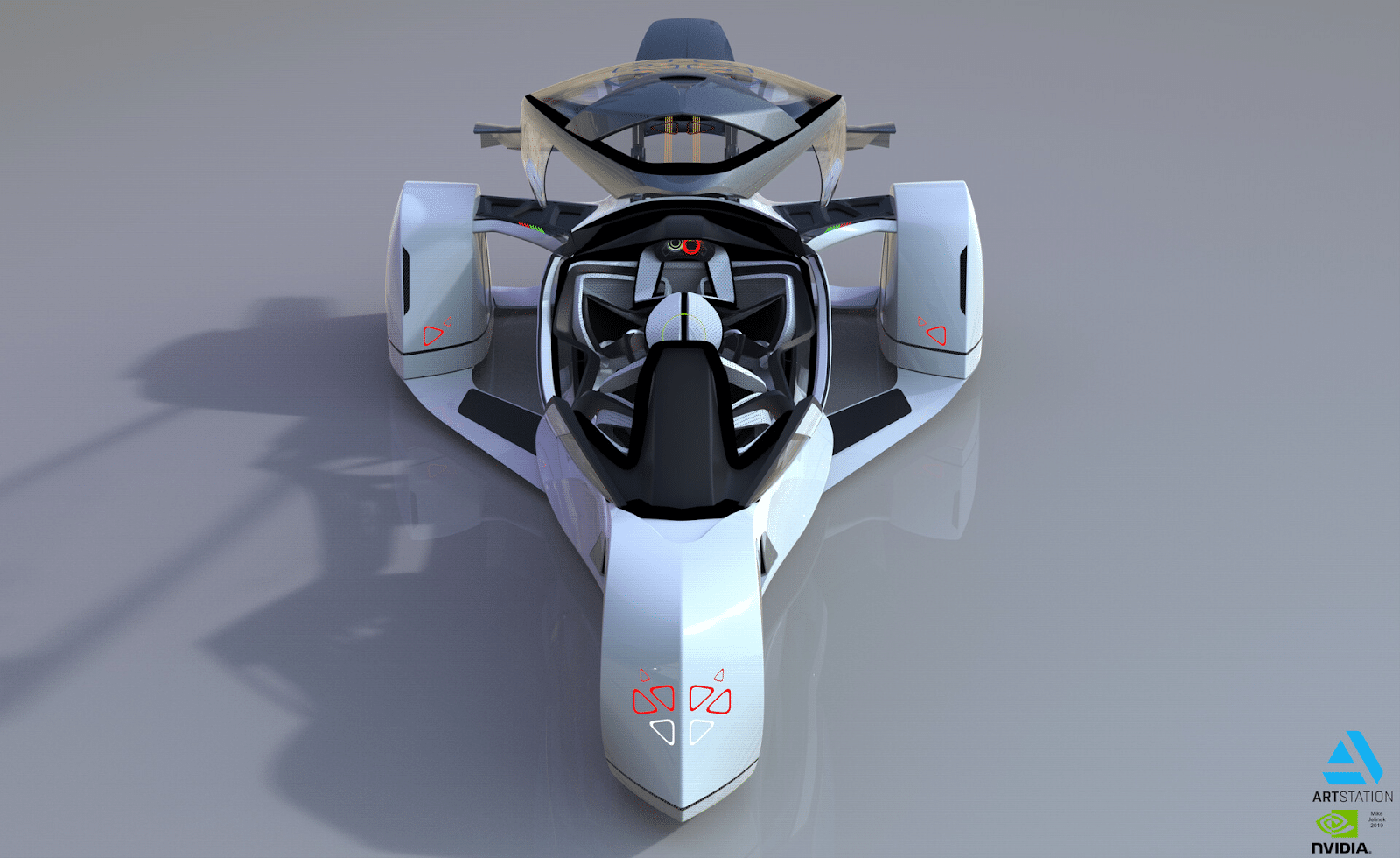 Artwork of car by Mike Jelinek designed in Gravity Sketch