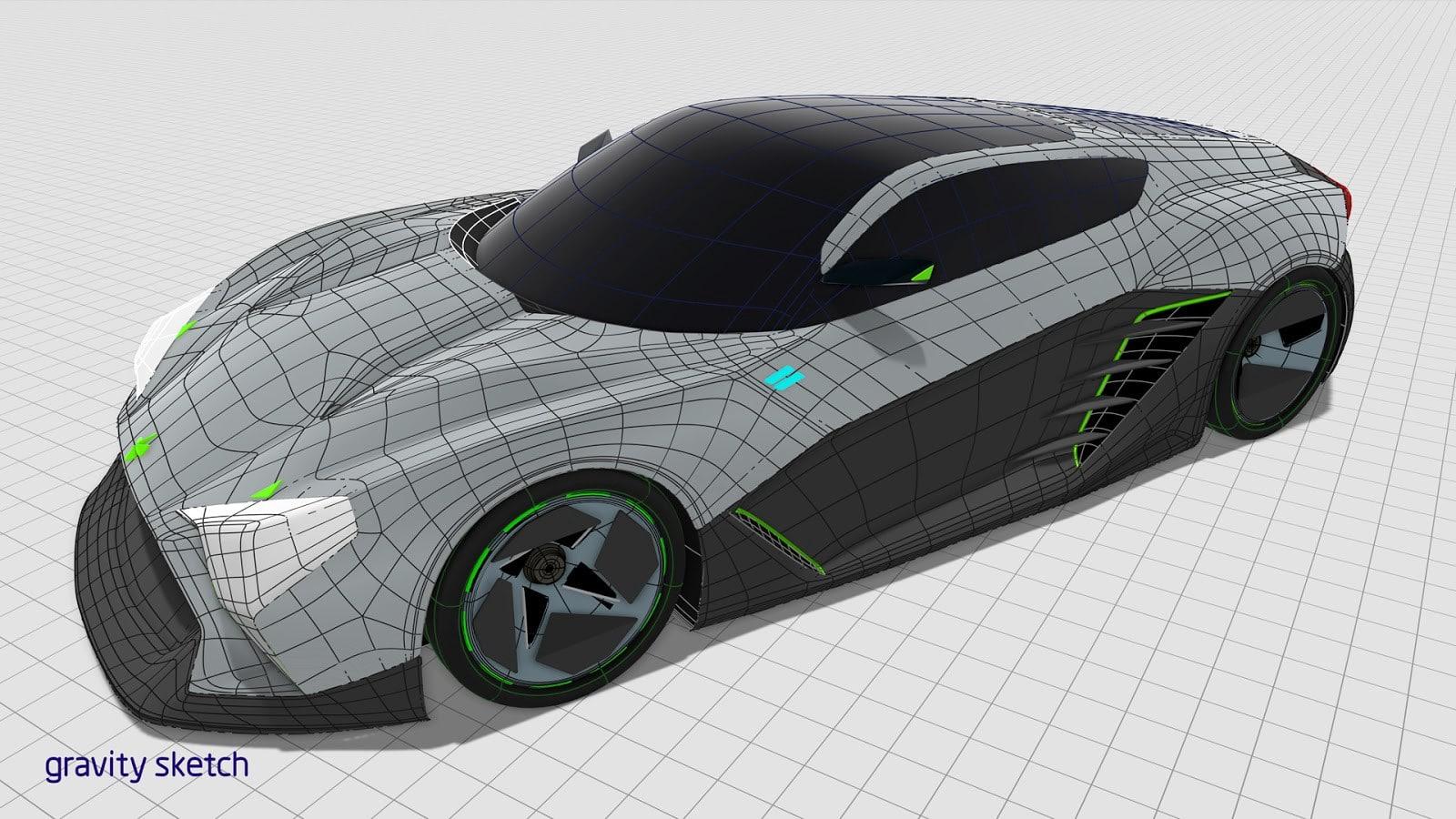 Design of car made in Gravity Sketch by James Robbins, Senior Designer at Honda R&D