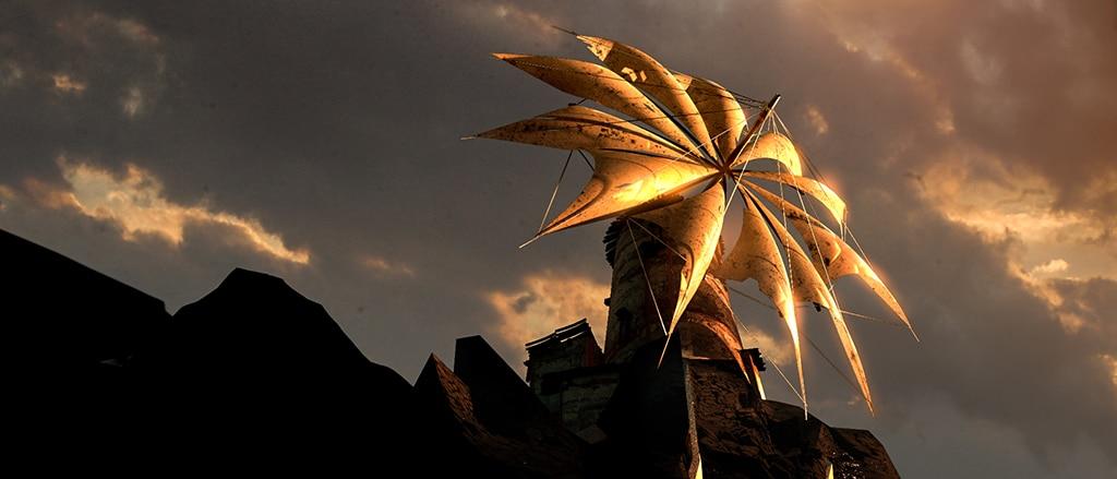 Image of concept sunset, tower& windmill by Jakub Kowalczyk, Senior Concept Artist & Illustrator at 11 bit studios