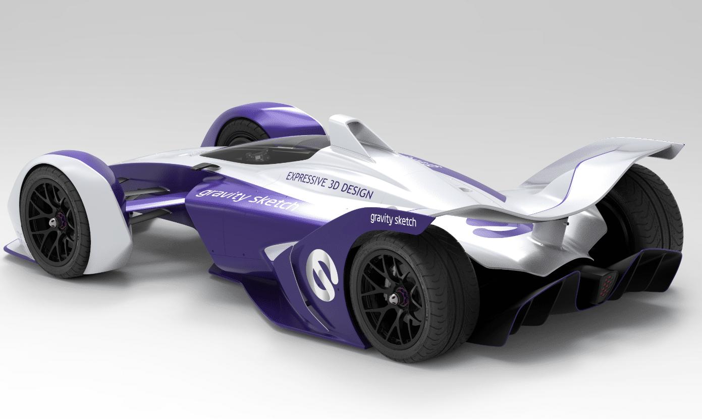 Gravity Sketch - Render in Keyshot of race car by Automotive designer, Matteo Gentile