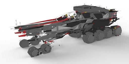 Octane render of model designed in Gravity Sketch Wacom by Jama