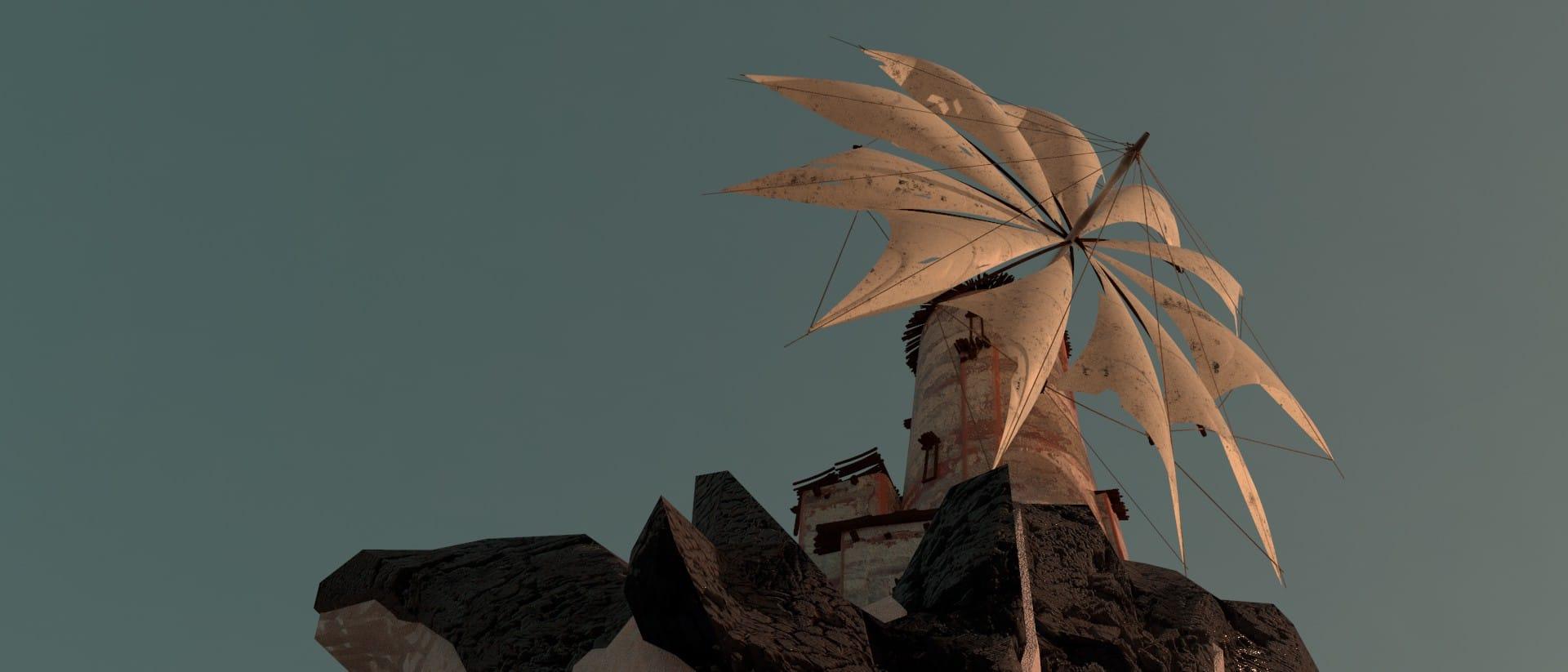 Image of concept, tower& windmill by Jakub Kowalczyk, Senior Concept Artist & Illustrator at 11 bit studios done in Keyshot