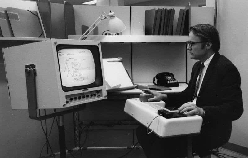 The oN-Line System in 1968, spatial computing
