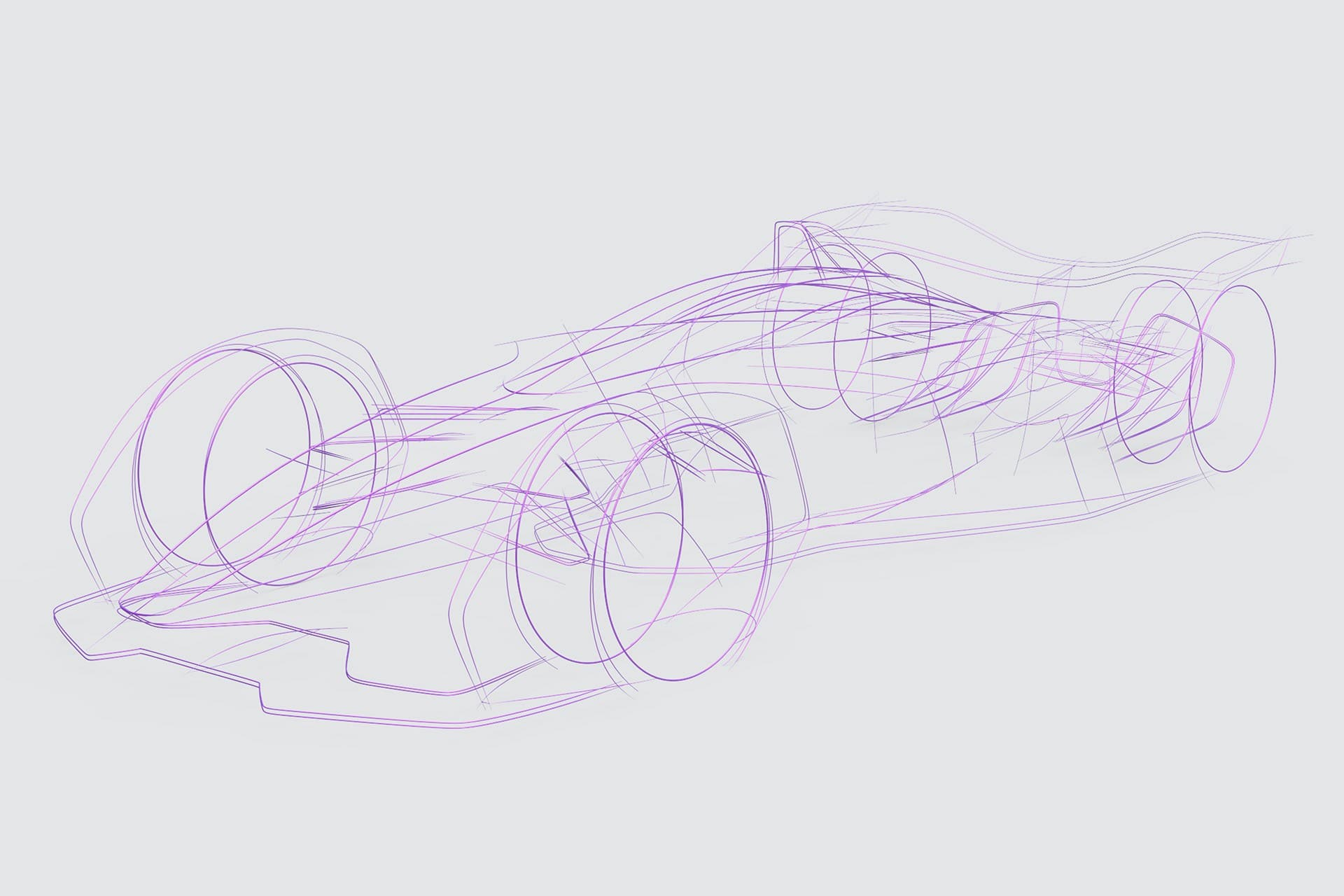 Wireframe of car sketched in Gravity Sketch by Matteo Gentile