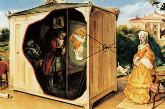 Leonardo Da Vinci painting, Camera Obscura