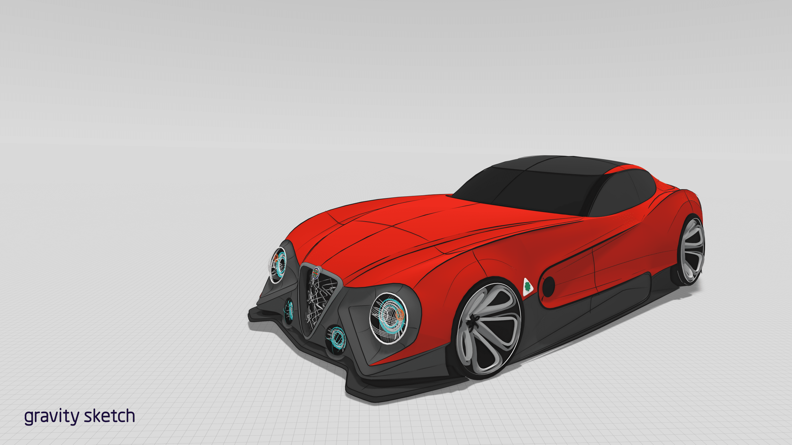 Red car designed by James Robbins in Gravity Sketch