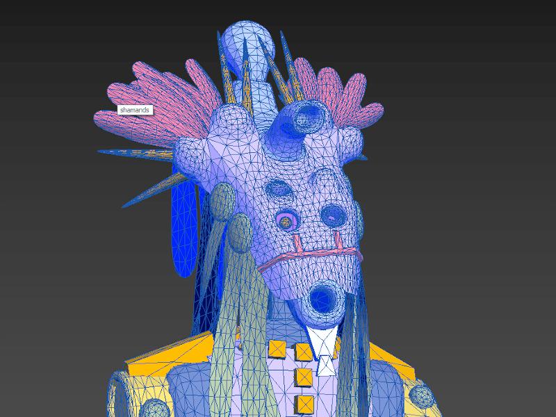 3D SMax Shaman 4, an export into 3ds Max by Durk van der Meer