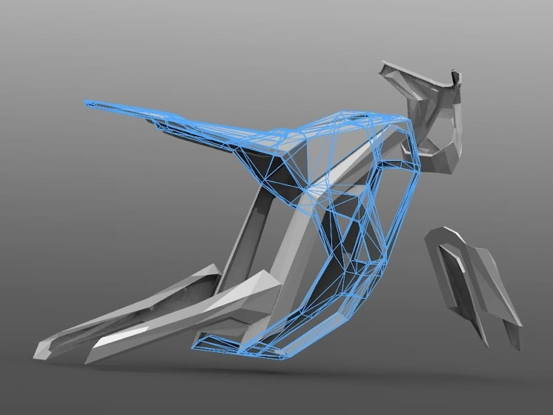 Model exported from Gravity Sketch and brought into Solidworks for rendering, by Alex Hodge