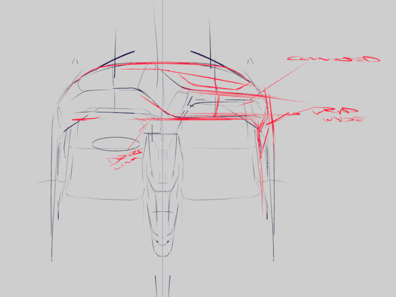 Review of automotive design in Gravity Sketch on tablet mode