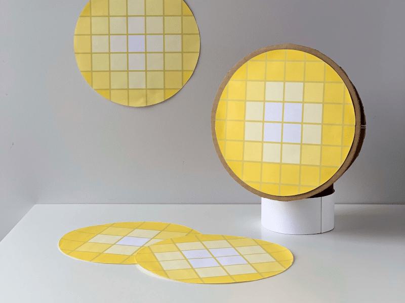 Gravity Sketch - Paper and cardboard mockup of lighting pattern investigation with Designer, Nicholas Baker