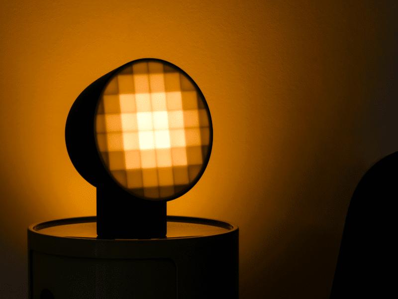 Final product of lighting designed in Gravity Sketch by designer, Nicholas Baker