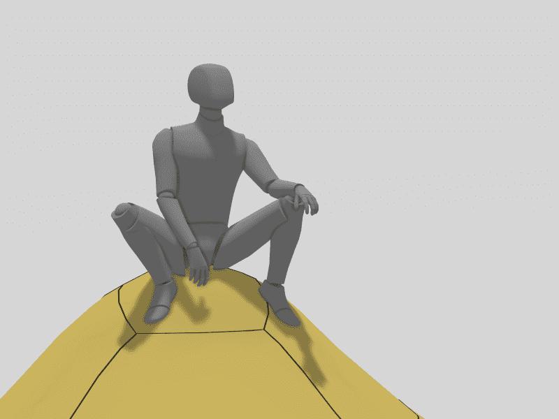 A mannequin that was positioned in Gravity Sketch by Freelance Digital Artist, Durk van der Meer