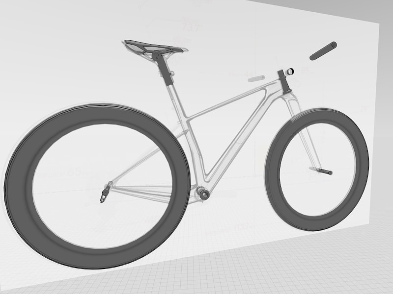Import model of bicycle from Fusion 36 and line sketch as a reference image put into Gravity Sketch by Fed Rios