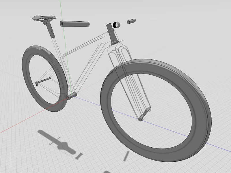 Bicycle design draw lines in 3D at 1:1 scale using Gravity Sketch by Industrial Design Consultant, Fed Rios