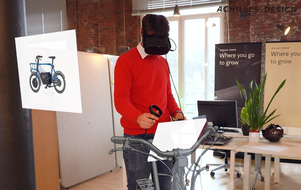 Man using Virtual Reality with Gravity Sketch at Achilles