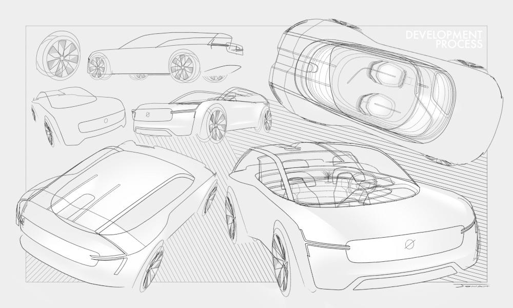 VR design of car exterior using Gravity Sketch