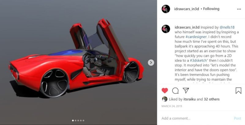 Final car model from the design collaboration