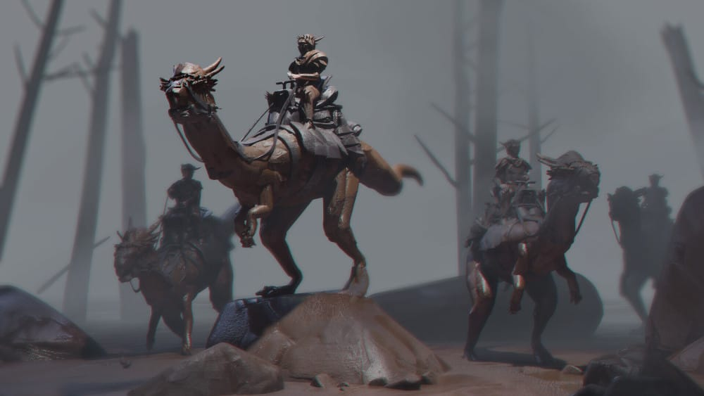 Riders rendered in Blender