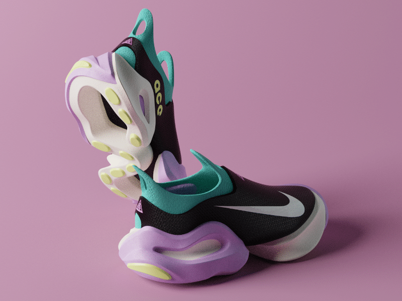 Gravity Sketch - Final render of the Nike ACG concept created in Blender by Footwear Design Consultant, Finn Rush Taylor