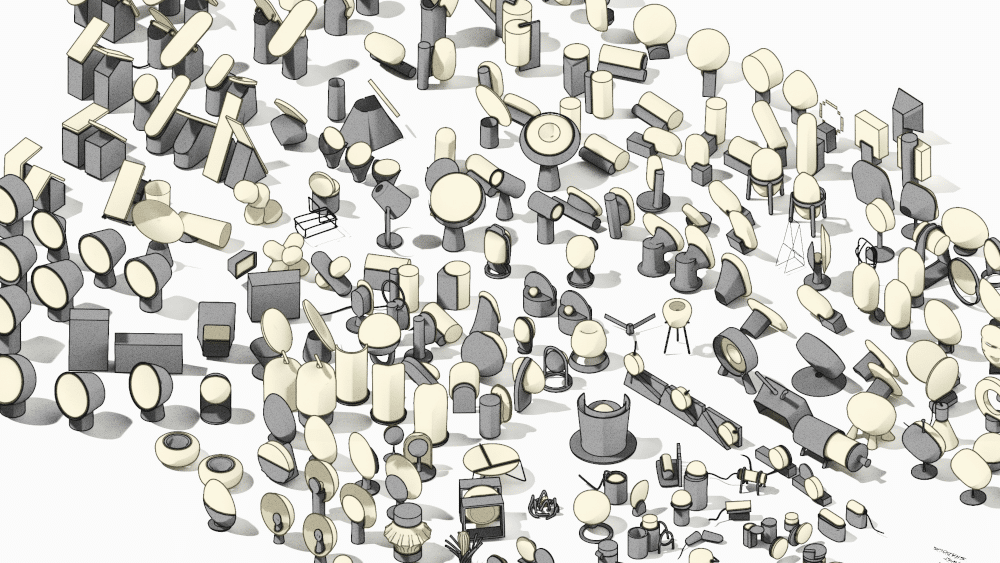 Product design renders of initial concepts - created in Gravity Sketch and rendered in KeyShot