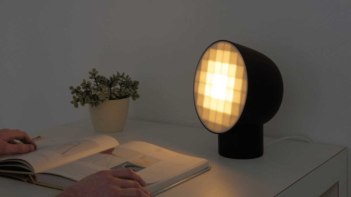 Pixel Light by Nicholas Baker on a desk