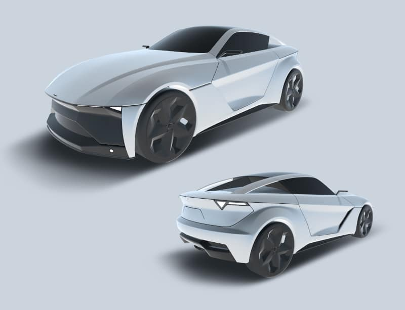 Automotive design exterior model created in Gravity Sketch using the new automotive design workflow
