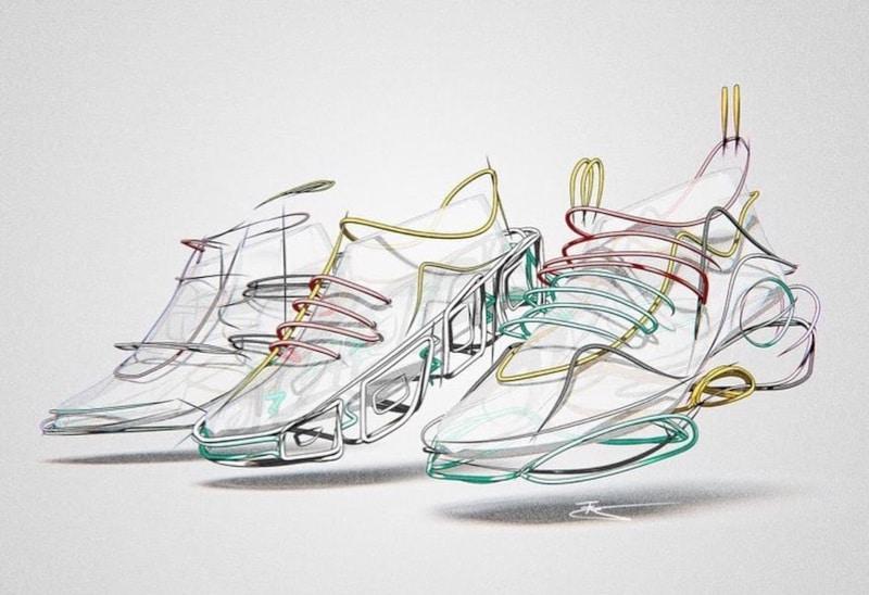 Shoe sketch created by Fynn Eckstein using Gravity Sketch