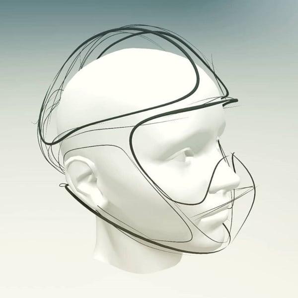 Quick sketch of a helmet using Gravity Sketch
