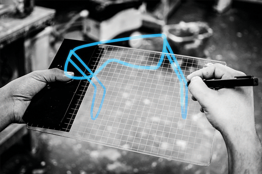 Gravity Sketch physical tablet for drawing in 3D